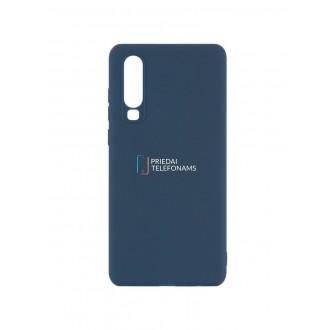 """Tamsiai mėlynas silikoninis dėklas Huawei P30 telefonui """"Mercury Soft Feeling"""""""
