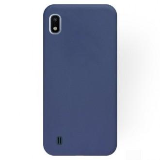 """Tamsiai mėlynas silikoninis dėklas Samsung Galaxy A105 A10 telefonui """"Rubber TPU"""""""