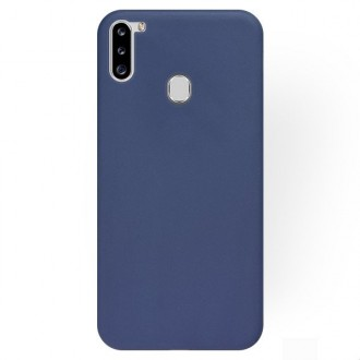 """Tamsiai mėlynas silikoninis dėklas Samsung Galaxy A21 telefonui """"Rubber TPU"""""""