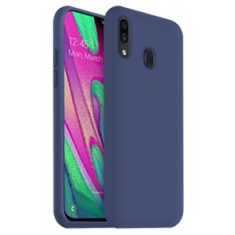 "Tamsiai mėlynas silikoninis dėklas Samsung Galaxy A405 A40 telefonui ""Liquid Silicone"" 2.0mm"