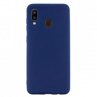 "Tamsiai mėlynas silikoninis dėklas Samsung Galaxy A405 A40 telefonui Mercury Goospery ""Soft Jelly Case"""