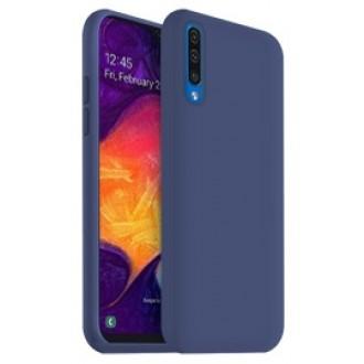 "Tamsiai mėlynas silikoninis dėklas Samsung Galaxy A505 A50 / A507 A50s / A307 A30s telefonui ""Liquid Silicone"""