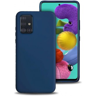 "Tamsiai mėlynas silikoninis dėklas Samsung Galaxy A515 A51 telefonui ""Liquid Silicone"" 1.5mm"