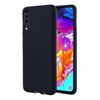 "Tamsiai mėlynas silikoninis dėklas Samsung Galaxy A705 A70 telefonui ""Mercury Soft Feeling"""