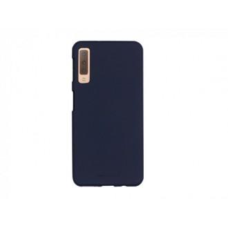 "Tamsiai mėlynas silikoninis dėklas Samsung Galaxy A750 A7 2018 telefonui Mercury Goospery ""Soft Jelly Case"""