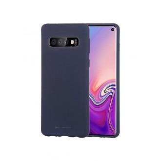 """Tamsiai mėlynas silikoninis dėklas Samsung Galaxy G973 S10 telefonui """"Mercury Soft Feeling"""""""
