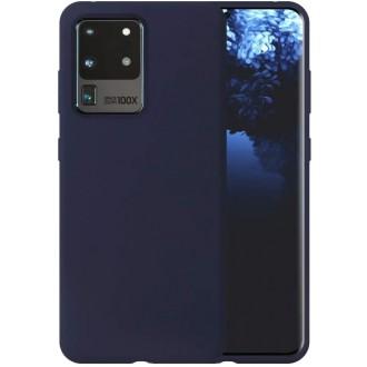 """Tamsiai mėlynas silikoninis dėklas Samsung Galaxy G988 S20 Ultra telefonui """"Liquid Silicone"""" 1.5mm"""