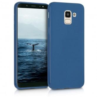 """Tamsiai mėlynas silikoninis dėklas Samsung Galaxy J600 J6 2018 telefonui """"Spigen TPU Case"""""""