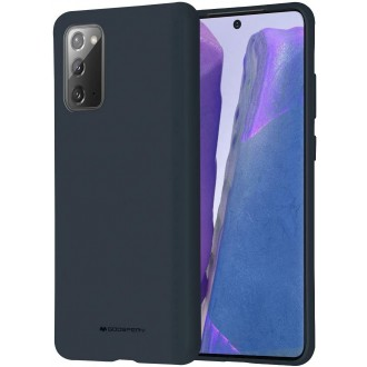 """Tamsiai mėlynas silikoninis dėklas Samsung Galaxy N980 Note 20 telefonui """"Mercury Soft Feeling"""""""