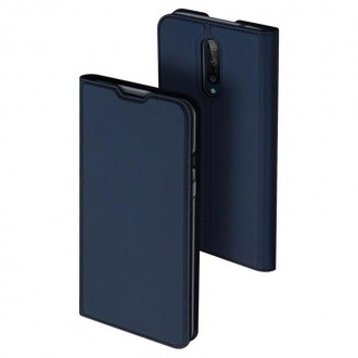 """Tamsiai mėlynas spalvos atverčiamas dėklas Oneplus 8 telefonui """"Dux Ducis Skin"""""""
