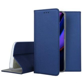 """Tamsiai mėlynos spalvos atverčiamas dėklas Apple iPhone 11 Pro telefonui """"Smart Magnet"""""""