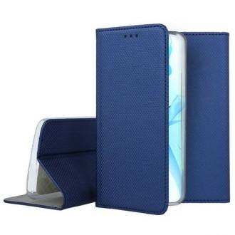"""Tamsiai mėlynos spalvos atverčiamas dėklas Apple iPhone 12 Pro Max telefonui """"Smart Magnet"""""""