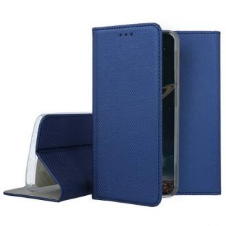 """Tamsiai mėlynos spalvos atverčiamas dėklas Apple iPhone 12 mini telefonui """"Smart Magnet"""""""