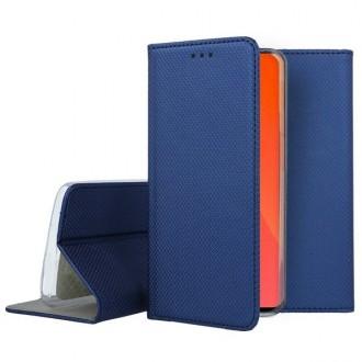 """Tamsiai mėlynos spalvos atverčiamas dėklas Huawei P Smart Pro 2019 / Honor Y9s telefonui """"Smart Magnet"""""""