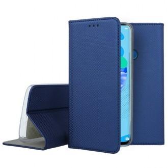 """Tamsiai mėlynos spalvos atverčiamas dėklas Huawei P20 Lite 2019 telefonui """"Smart Magnet"""""""