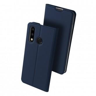 """Tamsiai mėlynos spalvos atverčiamas dėklas Huawei P30 Lite telefonui """"Dux Ducis Skin"""""""