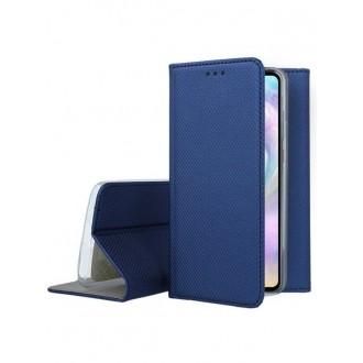 """Tamsiai mėlynos spalvos atverčiamas dėklas Huawei P30 telefonui """"Smart Magnet"""""""