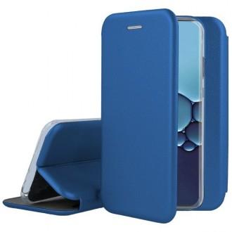 """Tamsiai mėlynos spalvos atverčiamas dėklas Huawei P40 Lite telefonui """"Book elegance"""""""
