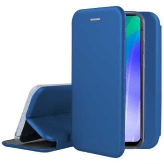 """Tamsiai mėlynos spalvos atverčiamas dėklas Huawei Y6P telefonui """"Book Elegance"""""""