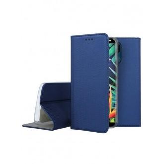 """Tamsiai mėlynos spalvos atverčiamas dėklas LG K40 telefonui """"Smart Magnet"""""""