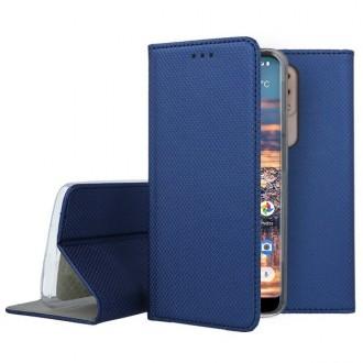 """Tamsiai mėlynos spalvos atverčiamas dėklas Nokia 4.2 telefonui """"Smart Magnet"""""""