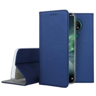 """Tamsiai mėlynos spalvos atverčiamas dėklas Nokia 6.2 / 7.2 telefonui """"Smart Magnet"""""""