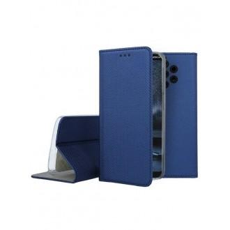 """Tamsiai mėlynos spalvos atverčiamas dėklas Nokia 9 PureView telefonui """"Smart Magnet"""""""