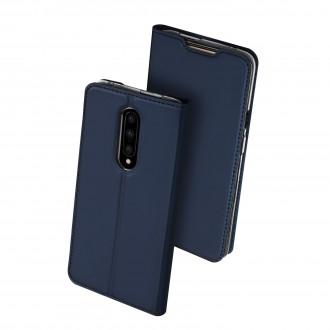 """Tamsiai mėlynos spalvos atverčiamas dėklas OnePlus 7 Pro telefonui """"Dux Ducis Skin"""""""