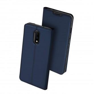 """Tamsiai mėlynos spalvos atverčiamas dėklas OnePlus 7 telefonui """"Dux Ducis Skin"""""""
