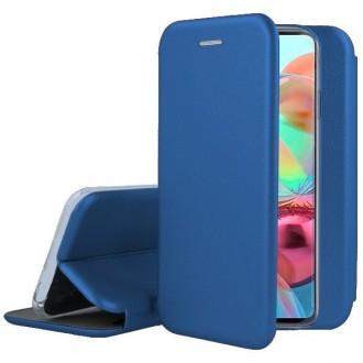 """Tamsiai mėlynos spalvos atverčiamas dėklas Samsung Galaxy A715 A71 telefonui """"Book Elegance"""""""