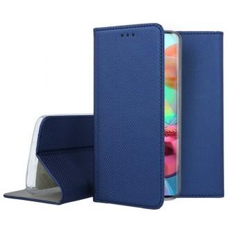 """Tamsiai mėlynos spalvos atverčiamas dėklas Samsung Galaxy A715 A71 telefonui """"Smart Magnet"""""""