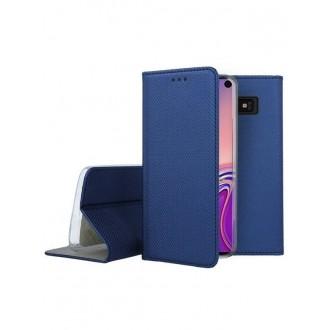 """Tamsiai mėlynos spalvos atverčiamas dėklas Samsung Galaxy G970 S10e telefonui """"Smart Magnet"""""""