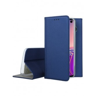 """Tamsiai mėlynos spalvos atverčiamas dėklas Samsung Galaxy G973 S10 telefonui """"Smart Magnet"""""""
