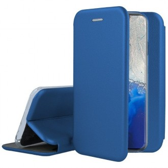 """Tamsiai mėlynos spalvos atverčiamas dėklas Samsung Galaxy G981 S20 telefonui """"Book elegance"""""""