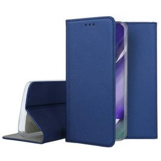 """Tamsiai mėlynos spalvos atverčiamas dėklas Samsung Galaxy Note 20 Ultra telefonui """"Smart Magnet"""""""