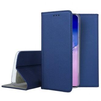"""Tamsiai mėlynos spalvos atverčiamas dėklas Samsung Galaxy S10 Lite / A91 telefonui """"Smart Magnet"""""""