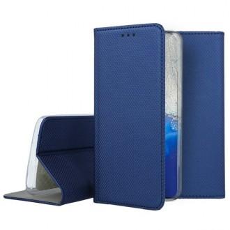 """Tamsiai mėlynos spalvos atverčiamas dėklas Samsung Galaxy S20 telefonui """"Smart Magnet"""""""