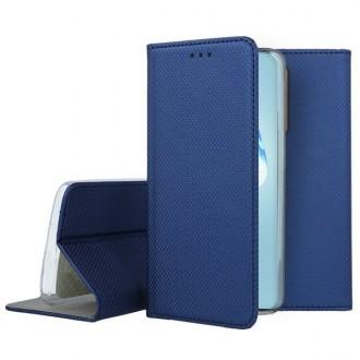 """Tamsiai mėlynos spalvos atverčiamas dėklas Samsung Galaxy S20 Ultra telefonui """"Smart Magnet"""""""