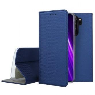 """Tamsiai mėlynos spalvos atverčiamas dėklas Xiaomi Redmi Note 8 Pro telefonui """"Smart Magnet"""""""