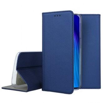 """Tamsiai mėlynos spalvos atverčiamas dėklas Xiaomi Redmi Note 8 telefonui """"Smart Magnet"""""""