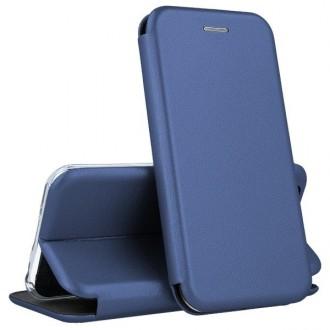 """Tamsiai mėlynos spalvos atverčiamas dėklas Xiaomi Redmi Note 9 telefonui """"Book elegance"""""""