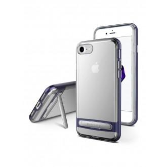 """Permatomas, tamsiai mėlynos spalvos kraštais dėklas Apple iPhone 6  / 6S  telefonui Mercury Goospery """"Dream Stand Bumper"""""""