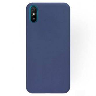 """Tamsiai mėlynos spalvos silikoninis dėklas Xiaomi Redmi 9A / 9AT telefonui """"Rubber TPU"""""""