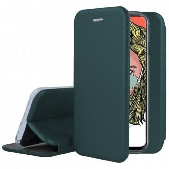"""Tamsiai žalias atverčiamas dėklas Huawei P Smart Pro 2019 / Honor Y9s telefonui """"Book Elegance"""""""