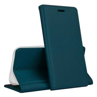 """Tamsiai žalias spalvos atverčiamas dėklas """"Magnetic book"""" telefonui Huawei P40 Lite E"""
