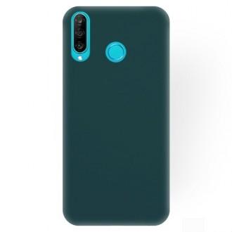 """Tamsiai žalias silikoninis dėklas Huawei P30 Lite telefonui """"Rubber TPU"""""""