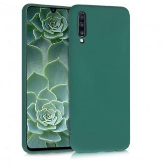 """Tamsiai žalias silikoninis dėklas Samsung Galaxy A705 A70 telefonui """"Rubber TPU"""""""
