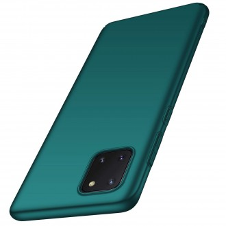 """Tamsiai žalias silikoninis dėklas Samsung Galaxy Note 10 Lite / A81 telefonui """"Rubber TPU"""""""