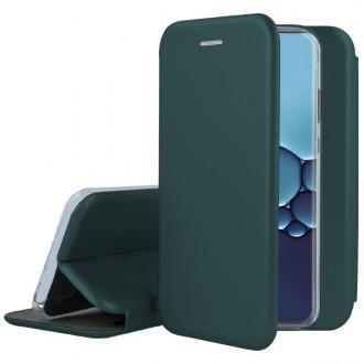 """Tamsiai žalios spalvos atverčiamas dėklas Huawei P40 Lite telefonui """"Book elegance"""""""