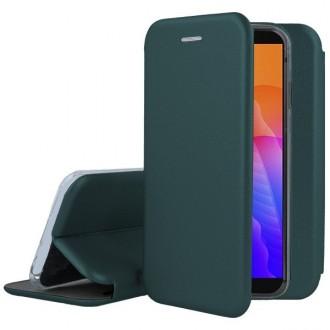 """Tamsiai žalios spalvos atverčiamas dėklas Huawei Y5P telefonui """"Book Elegance"""""""